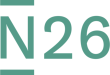 Logo of Berlin-based credit card bank N26