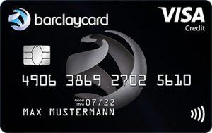 Barclaycard Visa Kreditkarte in schwarz
