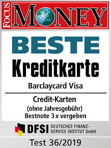Barclaycard Visa has been voted the best credit card in Germany without annual fee